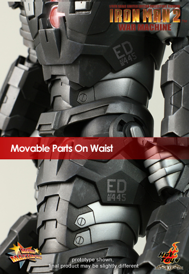 War Machine Hot Toys Limited Edition waist