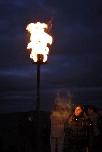Young Girl Looking At The Beacon