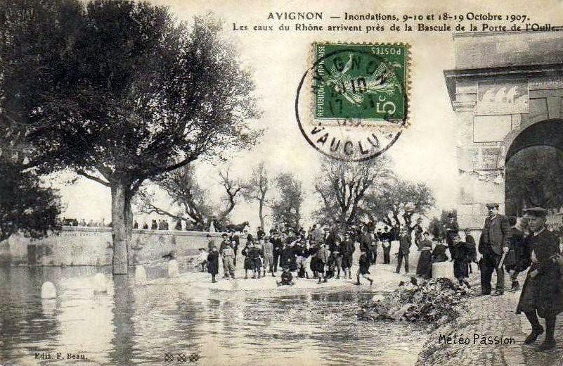 inondations à Avignon le 18 octobre 1907