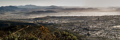 East San Diego Morning (Nick Chill Photography) Tags: california city morning urban panorama mist sunrise landscape photography nikon image sandiego stock elcajon scenic east civilization nikkor cowlesmountain missiontrails cs4 d90 clevelandnationalforest eastsandiegocounty 18105mm fletcherhills grossmontcommunitycollege nickchill
