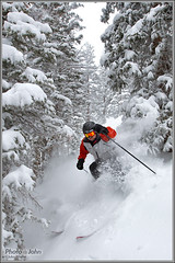 Solitude Powder Day (Photo-John) Tags: trees snow ski mike canon eos utah wasatch solitude powder saltlakecity 1d pow blackforest mkiv bigcottonwoodcanyon treeskiing mk4 markiv honeycombcanyon