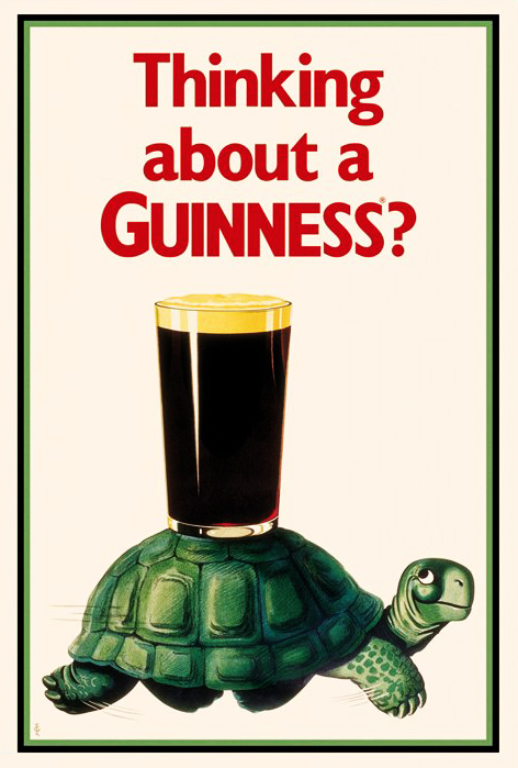 Guinness Turtle Poster