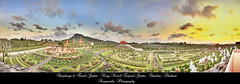 Panorama Stonehenge & French Garden , Nong Nooch Tropical Garden , Chonburi /   (AmpamukA) Tags: travel sky panorama cloud plant tree beautiful stone garden french thailand view resort thai tropical henge nooch nong chonburi        ampamuka