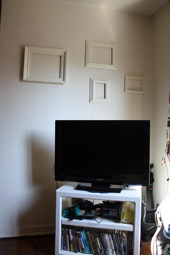 Living Room, TV with empty frames