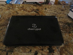 My Cherrypal Africa netbook, exterior from the top