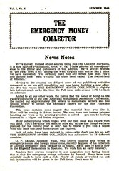 Emergency Money Collector Summer 1949 Cover