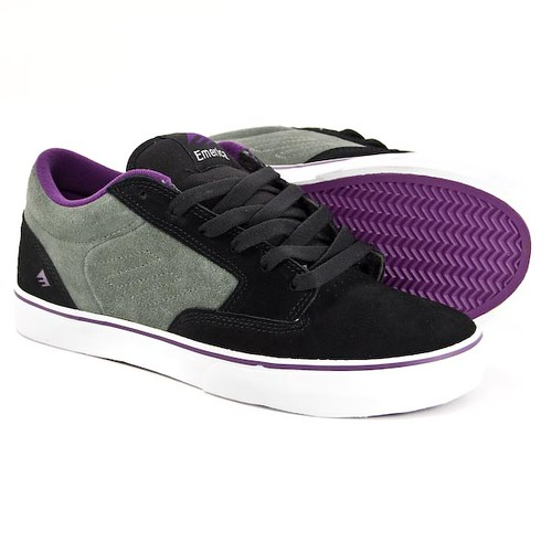 jinx black grey skate board shoes trainers