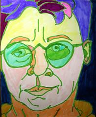 Green Glasses for the Emerald City: 2007.04.02 (Julia L. Kay) Tags: sanfrancisco portrait selfportrait art face pen self sketch san francisco artist arte julia kunst magic autoretrato kay felt daily brush dessin peinture portraiture marker 365 everyday dibujo artista artiste magicmarker knstler tombow feltmarker brushmarker juliakay penwa julialkay