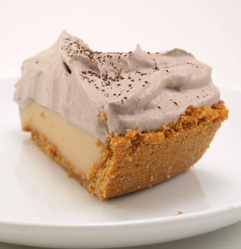Peanut Butter Cream Pie with Chocolate Whipped Cream Serves 8 – 12