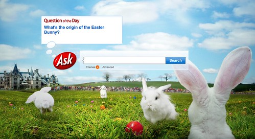 Ask.com Easter Logo