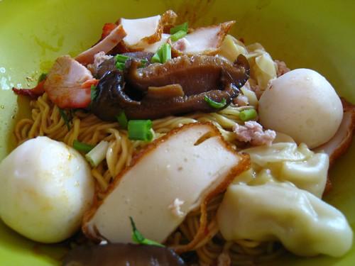 Fishball, Wanton, Char Siew & Fishcake Noodles