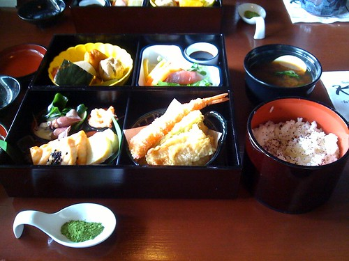 Shokado bento at Kubo's. Macha was for tempura!