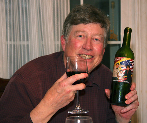 Paul with his special bottle