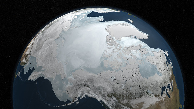 Arctic Sea Ice - September 2009 to March 2010