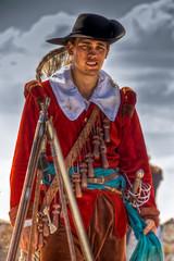 Red Musketeer (renetka) Tags: red castle art canon devin costume mask sigma slovensko slovakia bratislava hdr musketeer 18200mm photomatix 450d