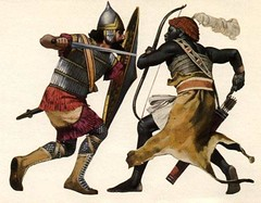 Assyrian Vs Nubian (cool-art) Tags: africa lebanon black soldier army ancient african military sudan iraq egypt arab conflict warrior historical warriors wars past nubia assyria nubian assyrian sirya aracher