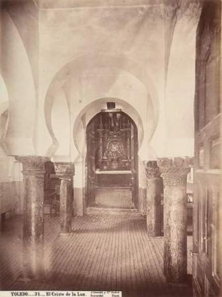 Mezquita del Cristo de la Luz en el siglo XIX. Fotografía de Jean Laurent