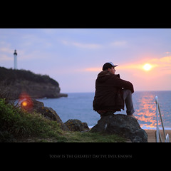Day Eighty Eight (Seb Huruguen) Tags: ocean light sunset portrait france self canon eos 50mm soleil day f14 pumpkins 7d flare lonely greatest 365 usm seb pays basque phare ef smashing biarritz sebastien anglet autoautoportrait huruguen