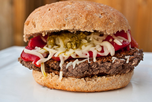 Italian black bean burger