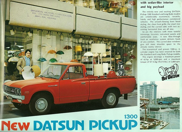 truck advertising nissan pickup 1977 brochure datsun 1300 620
