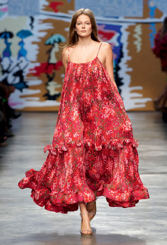 Stella McCartney spring 2010 runway maxi dress