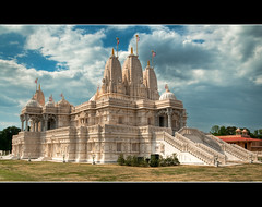 Funny, That Doesn't Look Like Tara . . . (JLMphoto) Tags: pink atlanta stone georgia temple italian sandstone indian limestone marble hindu turkish mandir carrara baps shri lilburn swaminarayan jlmphoto