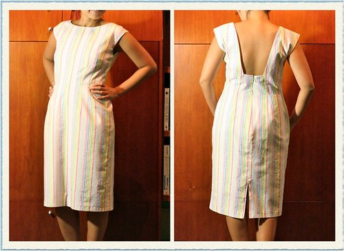 Dress in Striped Fabric (McCall's 5845)