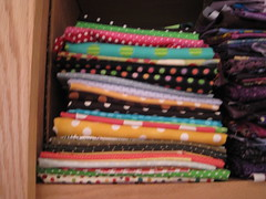 the 4th stack of my dotty fabric