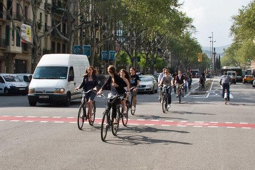 Barcelona Bicycle Traffic