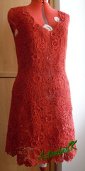 Red_dress (antonina.kuznetsova) Tags: red motif dress lace crochet ukraine clothes cotton freeform irishcrochet crochetlace lacefreeform motifcrochet antoninakuznetsova