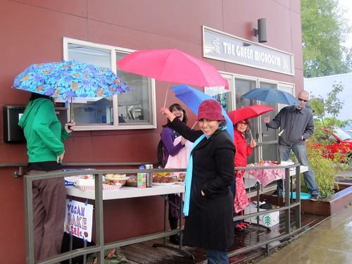 Bake Sale in the rain