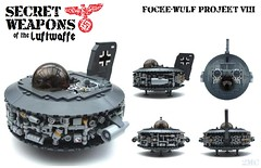 Secret Weapons of the Luftwaffe: F-W P8 (2 Much Caffeine) Tags: lego military ufo ww2 flyingsaucer moc luftwaffe secretweapon dieselpunk dieselpulp