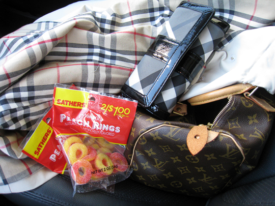 peach rings candies+burberry+louis vuitton
