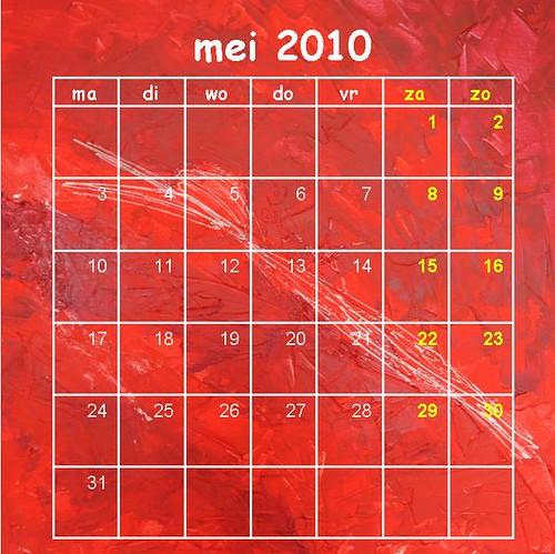 Kalender mei 2010