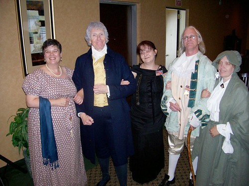 Jefferson, Franklin, their wives, & my wife.