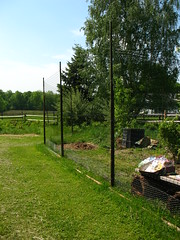 new deer fence around the vegetable garden