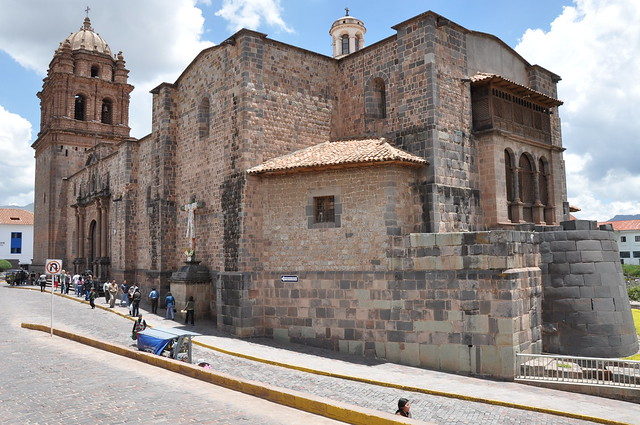 La iglesia de Santo Domingo built on the ruins of The Coricancha temple [Cuzco]