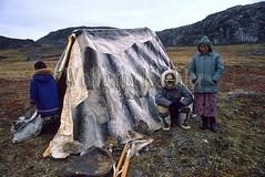 00032485 (wolfgangkaehler) Tags: camp canada tent inuit northamerica northwestterritories nunavut eskimo hudsonbay baffinisland capedorset huntingcamp northamerican sealskin inuitman baffinislandcanada hudsonbaycanada inuitchild inuitscene capedorsetcanada inuitlife