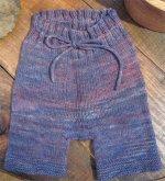 BLUEBERRIES FOR SAL -  handspun /handknit shorties - medium