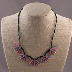 Fab Fan Necklace in Sky Blue and Bright Pink (Adalea's Designs) Tags: pink blue black art fan necklace beads handmade creative craft jewelry jewellery created homemade manmade bead handcrafted fans crafty multicolored beaded glassbeads enamel crafter crafted beader handmadebeadednecklace womanmade singlestrand delicaseedbeads adaleasdesigns