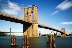Midday Long Exposure, Brooklyn Bridge, New York City