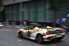 street new york city nyc urban london sports car germany munich spider italian europe euro top manhattan stripes tiger fast wrap 360 down ferrari camo exotic german plates 3000 gumball