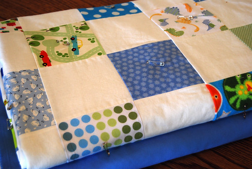 I Spy Quilt ready for quilting