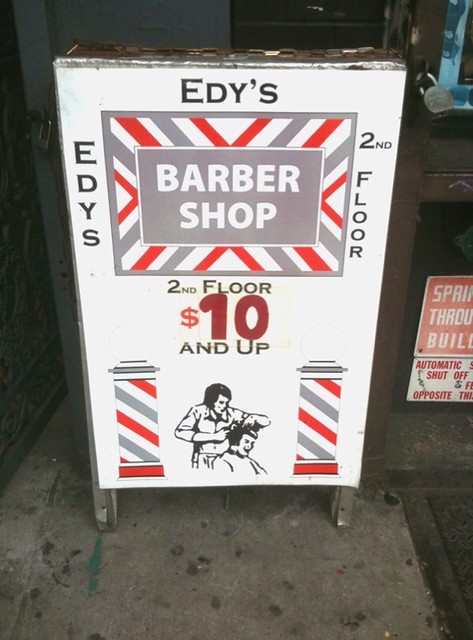 Edy's Barbershop, $10 and up #walkingtoworktoday