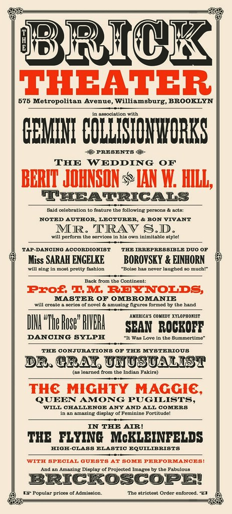THE WEDDING - card front