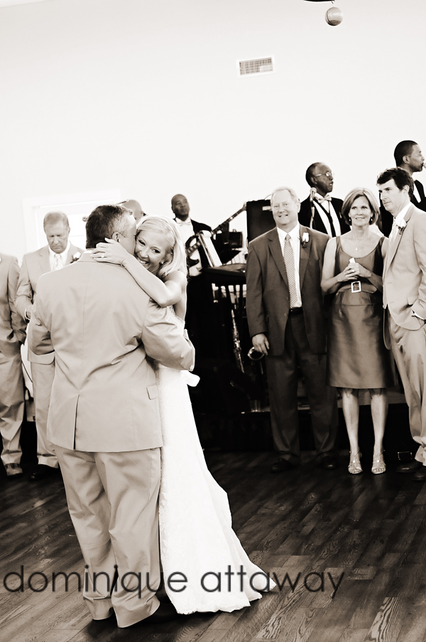 couple dansing at wedding reception