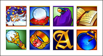 free Golden Goose Winning Wizards slot game symbols
