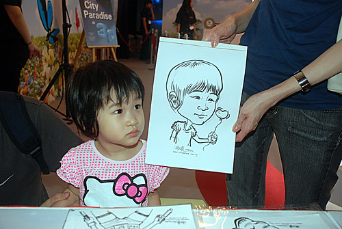 caricature live sketching for LG Infinia Roadshow - day 1 - 14