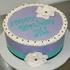 Purple Birthday Cake (cjmjcrlm (Rebecca)) Tags: birthday black cake purple turquoise fondant buttercream fantasyflower