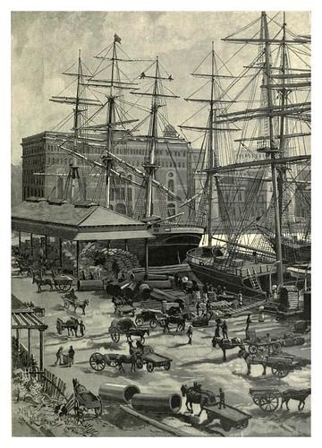004-Parte oriental de Circular Quay en Sydney-Australasia illustrated (1892)- Andrew Garran